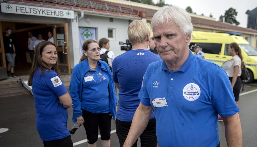 PÅ VEI UT: Frode Kyvåg har vært leder for Norway Cup siden midt på 1970-tallet. Nå har Bækkelagets styre bestemt at 2015-turneringen blir hans siste. Foto: Øistein Norum Monsen