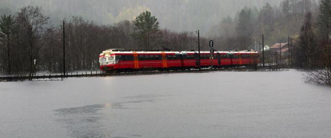 Bergensbanen holdes stengt i flere dager