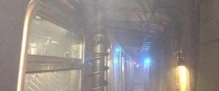 Gigantbor kom ned i tunnelen ved den tettpakkede t-banevogna