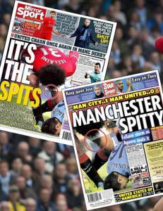 Engelske aviser viser fram Fellainis spytt
