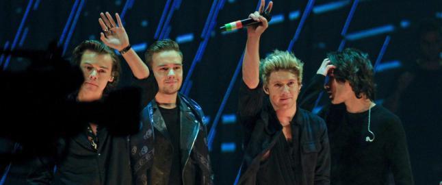 One Direction h�vet inn flest priser