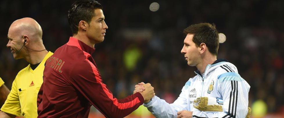 Ronaldo og Messi ble byttet ut etter 45 minutter