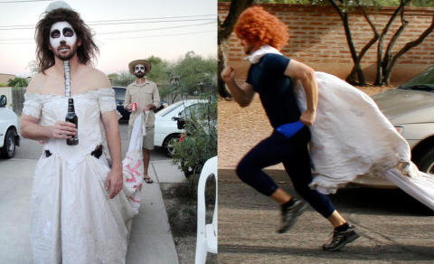 Ekskona ba Kevin �gj�re hva faen han ville med brudekjolen�