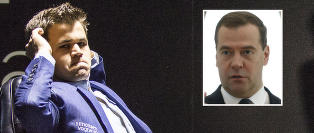 Medvedev avlyser Carlsen-bes�ket