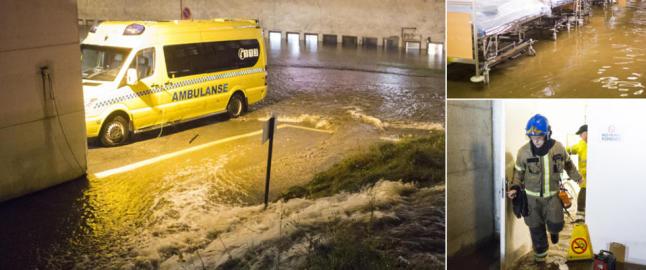 Flomvann truer sykehus