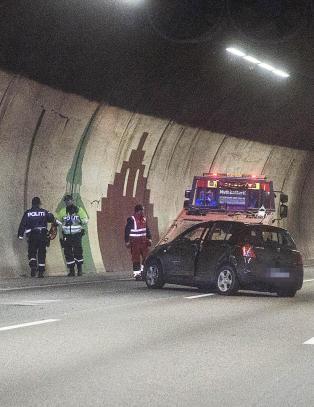 Bilulykke i Festningstunnelen