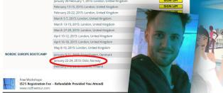 Omstridt �sjekkeekspert� som ble kastet ut av Australia og nektet innreise til Storbritannia planlegger �kurs� i Oslo