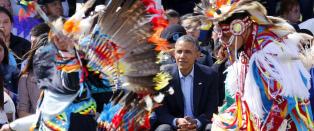 Obama: - De eneste som har rett til � v�re imot innvandring, er indianerne