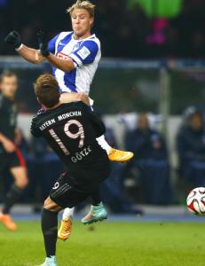 Skjelbred tok kapteinsansvar da Bayerns superstjerner kom p� bes�k