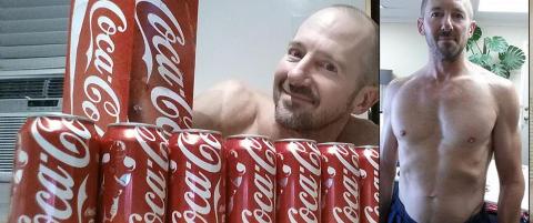 George (50) drakk 10 Cola-bokser om dagen i 30 dager