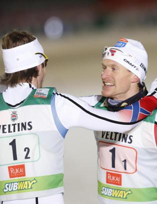 Norge vant lagsprinten