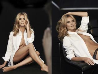 Disse reklamebildene av Heidi Klum ble for dr�ye for Las Vegas