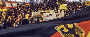 Over 17.000 i antiislamsk protest i Dresden