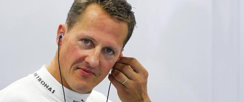 Ett �r etter ulykken st�r Schumacher fortsatt foran en hard kamp