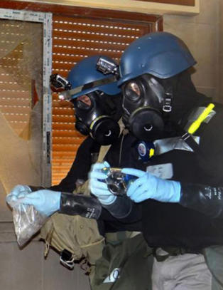 Syria beskyldes for � bruke klorgass