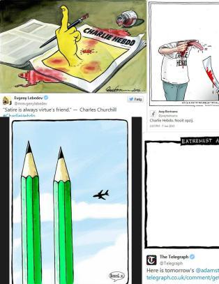 Viser avsky med sterke karikaturtegninger