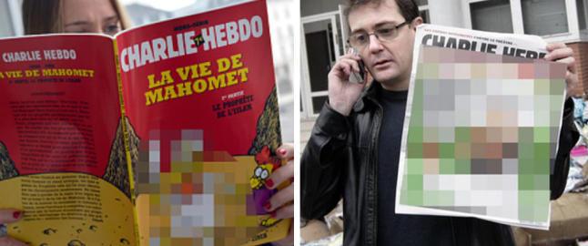 Flere medier sensurerer Charlie Hebdos tegninger