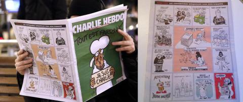 Dette er forsidene Charlie Hebdo forkastet