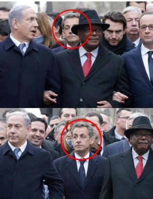 Sarkozy fant seg ikke i � g� bak statslederne