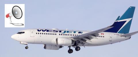 Da full 29-�ring stjal megafonen om bord, valgte kanadisk politi � storme flyet