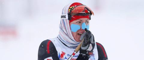 Justyna Kowalczyk var p�meldt, men trakk seg fra sprinten