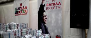 Syriza h�per forspranget holder i Hellas