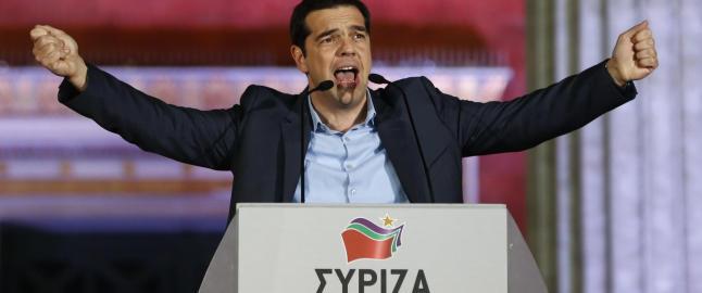 Det venstreradikale partiet Syriza vant en historisk seier i natt.