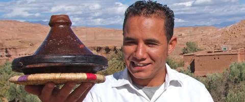 Ser ut som en pyntegjenstand, men er en av de viktigste delene av det marokkanske kj�kken