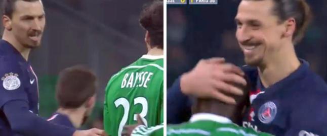 Zlatan h�net motspiller. Svaret fikk svensken til � glise bredt