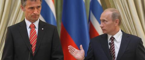 Putin og Stoltenberg i full ordkrig. -Bare tull, sier nordmannen