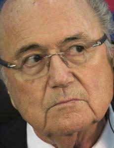 FIFA-president Sepp Blatter f�r kamp