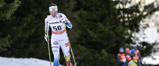 Charlotte Kalla tilbake med gnistrende seier