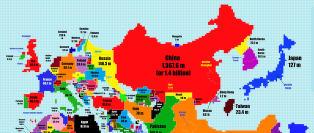 Noen av verdens st�rste land er nesten borte