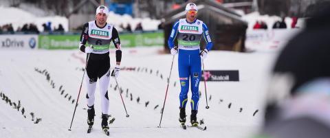 Tomas Northug falt i siste sving, mens Petter ikke var i n�rheten