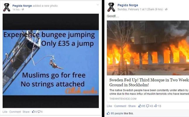 Pegida Norge roste mosk�brenning og strikkhopp uten strikk for muslimer: - Det ble gjort i fylla