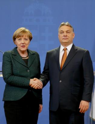Merkel �underviser� i demokrati i Ungarn