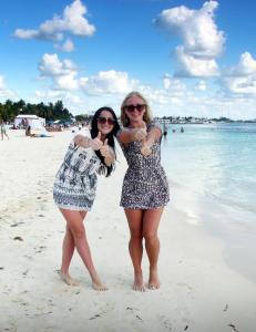 Venninnene hadde h�ye forventninger etter bare � ha sett Isla Mujeres p� bilder