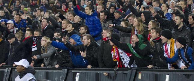 Europa League-kamp avbrutt etter tribunebr�k
