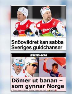 Stafetten har ikke engang begynt, men det kan allerede virke som om svenskene har tapt