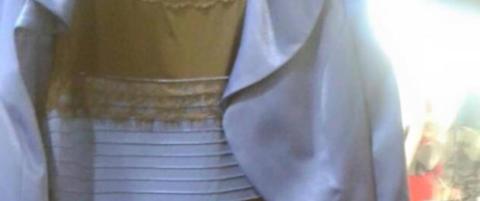 Fargen p� denne kjolen skaper full forvirring verden over