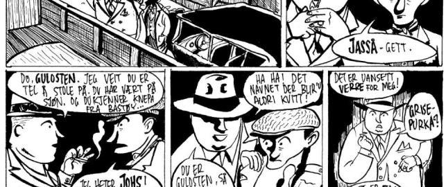 Lager tegneserie om gangster og krigshelt