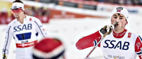 Northug trodde ikke sine egne �yne da han lurte Halfvarsson i VM-stafetten
