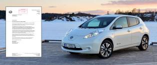Dette brevet skremmer tusenvis av Norges Nissan Leaf-eiere