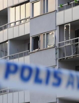 Politiet sperret av stort omr�de i Nyk�ping