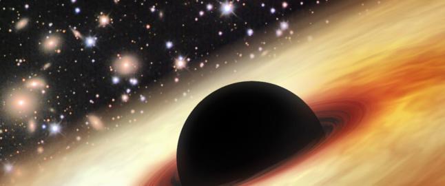 Det supermassive svarte hullet forbl�ffer forskere: En masse tolv milliarder ganger st�rre enn sola