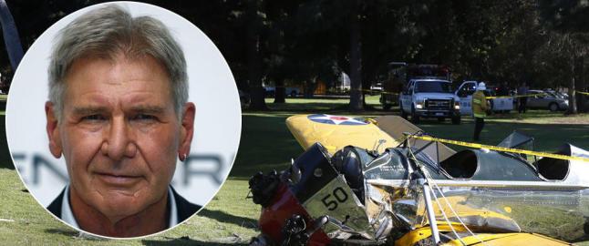 - Harrison Ford alvorlig skadet da oppvisningsflyet hans styrtet