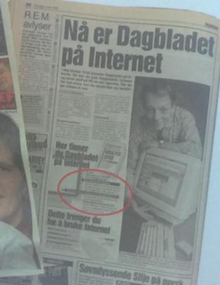 Dagbladet p� nett fyller 20 �r