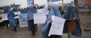Slik markerte de afghanske mennene kvinnedagen