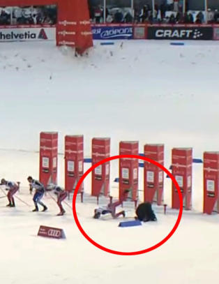 Her g�r Petter Northug p� trynet