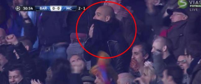 Guardiola fors�ker � skjule jubelen n�r Barcelona tar ledelsen